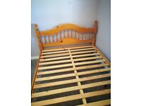 King size bed frame pine