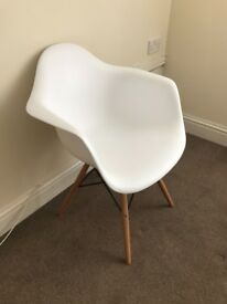 White Tub Dining Chairs x 6