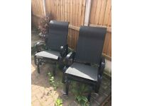 2 garden rocking chairs