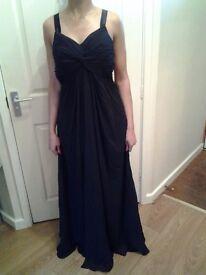 Ladies black evening gown size 10.