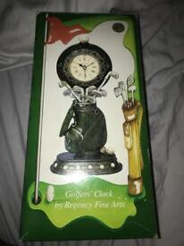 Golfer's clock, brand new