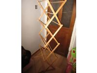 wooden folding clothes horse, drying airer
