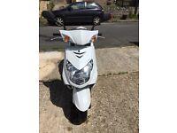 Yamaha Cygnus x 125cc White 2013 Plate