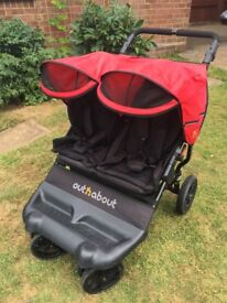 Out'n'about Little Nipper Double buggy pram pushchair stroller