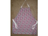 Lovely reversible polycotton apron, flowers, hand crafted, new
