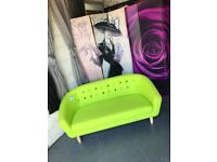 New 2 Seater Athena Tub Sofa in Lime Green