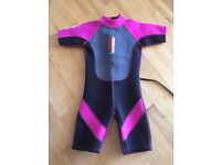 """Girls pink and black wetsuit 28"""" chest"""