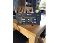 FORD CD PLAYER RDS 6000 HEAD UNIT WITH CODE IN VERY GOOD CONDITION