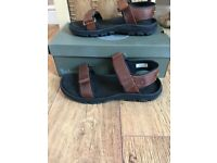 Timberland brown leather sandals brand new size 10.5
