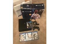 PS4 Pro 1tb with games.