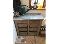 Cox And Cox 8 Drawer Unit | Zinc Topped | Industrial | Gardening | Utility