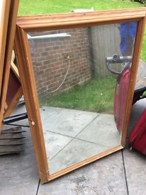 Mirror 70*100 cm with wood frame