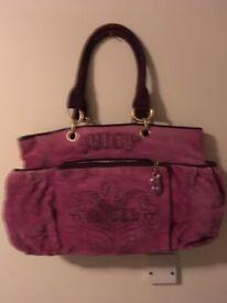 Maroon Juicy Culture handbag (angel) £35ono
