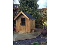 POSH SHED Luxury Garden Shed Summer House Ply-Lined Shingle Tiled Roof 7X5