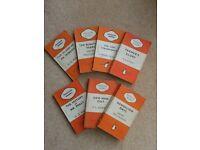 Vintage Penguin Books - set of 7