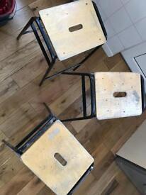 Bohemian stools. 1970's.