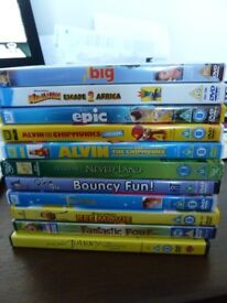 Job lot of 11 kids DVD films - Great condition