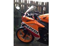 Honda CBR 125cc 2015 REPSOL MOTORCYCLE
