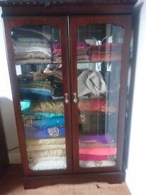 Elegant handmade solid glass cabinet