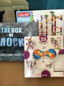 Activity Toys, marble run, Zoob, magic set & PlusPlus