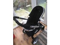 I candy peach blossom ( black Magic) stroller used for couple of months for sale