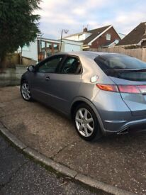 Honda Civic 2009 2.2 iCTDI silver blue top spec heated leather seats 86000 miles