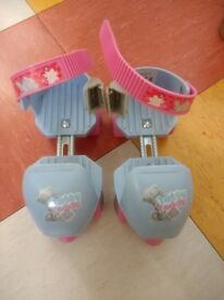 Children's adjustable tatty teddy roller skates