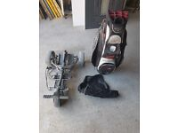motor caddy power trolly and bag