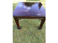 Small mahogany coffee table (can deliver)