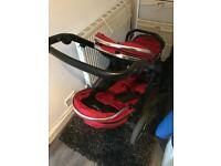 Oyster max 2 double buggy pushchair