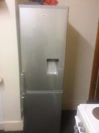 Fridgemaster fridge freezer. As new in silver