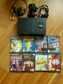 Playstation 2 with 8 games
