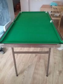 Snooker table and accessories