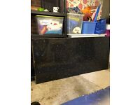 Axiom Black marble effect kitchen worktop 190cm length ** reduced**