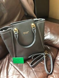 New leather PRADA handbag bag