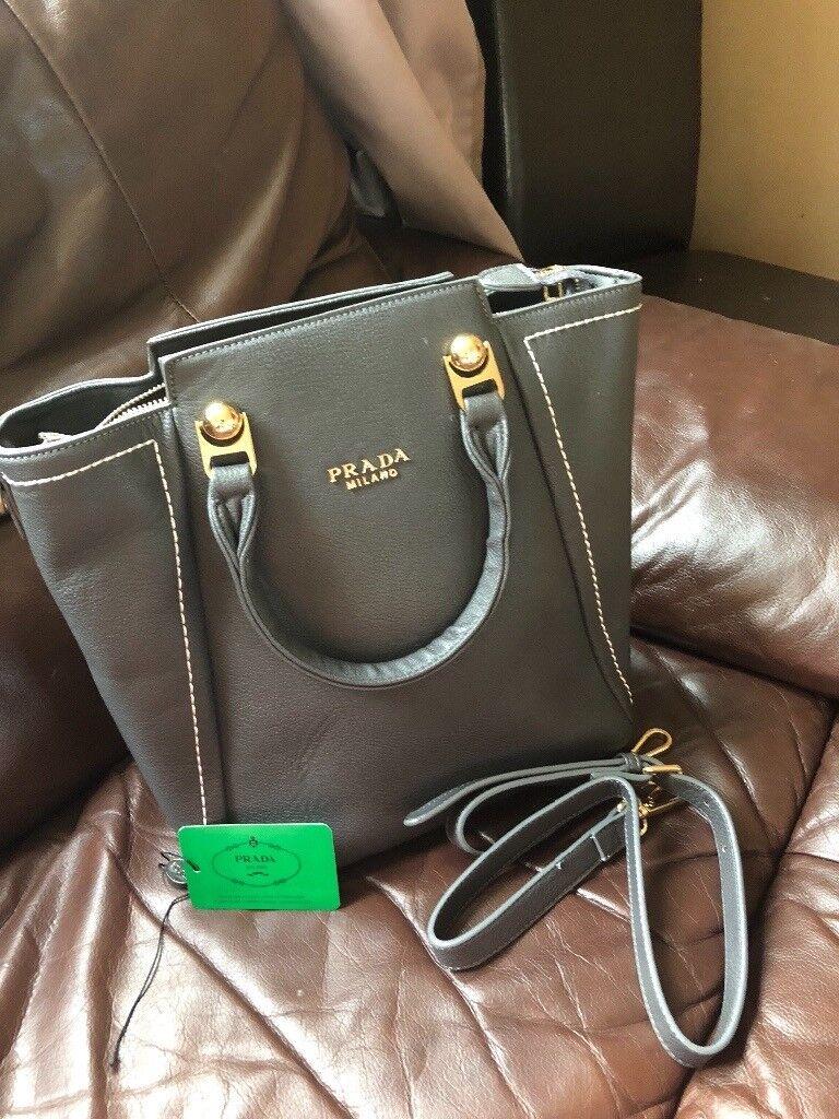 New leather PRADA handbag bag