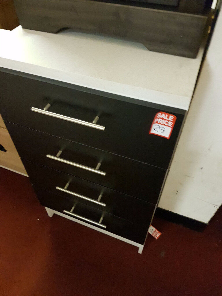 Athina 500mm Fitted Kitchen Drawer Unit - Black