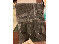 12 Still life Art college paintings sketches
