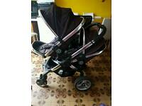 Icandy peach blossom double stroller pram