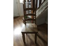 5 solid pine heavy chairs. All in great condition.