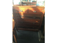 Marvellous Antique Victorian Solid Mahogany 2 over 3 Chest Of Drawers