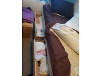 Silent night single bed with 2 draws