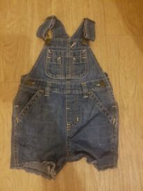 Boys shorts dungarees size 6-12 months
