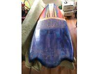 Custom quad surfboard