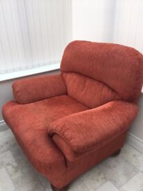 MARKS & SPENCER COMFY ARMCHAIR IN TERRACOTTA