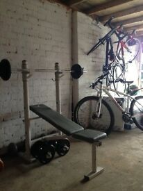 Excellent condition weights bench and weights