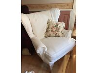 Wing backed armchair for sale Lymm.