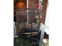 LARGE PARROT CAGE ON LEGS LIKE NEW