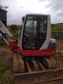 FOR SALE TAKEUCHI TB250 YEAR 2010 3356 hours Safelock Hitch 3 Buckets CALL 00447388157944 after 6PM