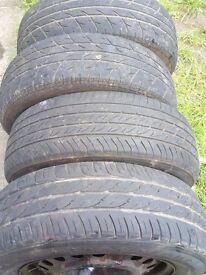 Steel wheels off vauxhall vectra
